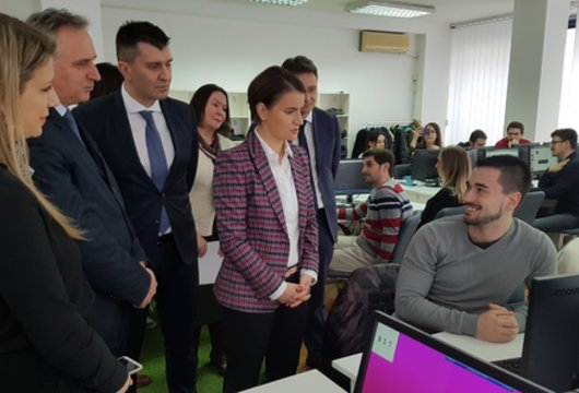 Poseta premijerke Srbije Ane Brnabić BIT-u